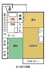 HPの間取図-D201-